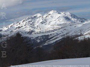 Massif de Tabe depuis le Roc de l'Orri d'Ignaux (1724m)
