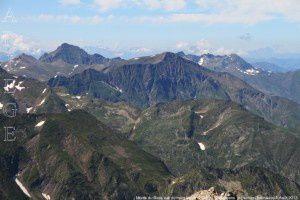 Monts du Biros vus du Mont Valier (2838m)