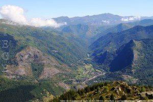 Vallée de Vicdessos vue du pic du Far (1925m)