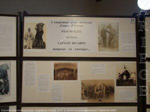 Ercé - Chapelle du Calvaire - Exposition des montreurs d'ours