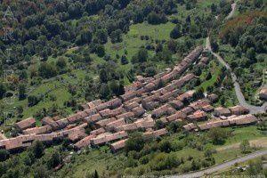 Le village vu du château de Montségur