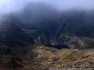 Les Estagnous depuis les Lauzets (vers 2600m)