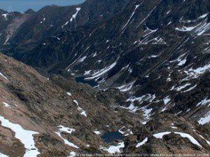 Etang d'En Beys (1954m) depuis l'étang Faury (2312m)