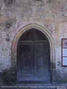 Porche nord (XVème siècle) - Notre-Dame de Tramesaygues - Audressein