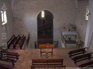 Eglise de Vals - Nef supérieure (XIIème)