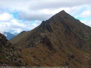 Crête des Laquels vu du col du Picot (2468m)