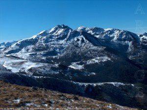 Pic de Soularac (2368m) - Pic de Saint-Barthélemy (2348m) depuis la montagne de la Frau (1924m)
