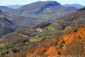 Plateau de Soulan - Montagne de Sourroque vus de Joubac