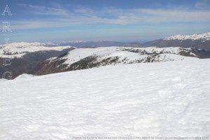 Plateau de Beille vu des crêtes des Génibres (2231m)