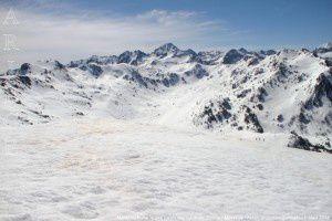 Massif du Rulhe vu des crêtes des Génibres (2231m)