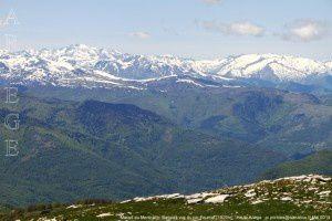 Massif du Montcalm - Bassiès vus du pic Fourcat (1929m)