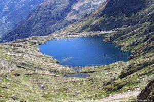 Lago Mariola vu du pic de la Montagnoule (2623m)