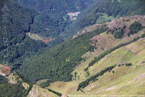 Salau vu du cap de Ruhos (2618m)