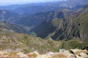 Ustou - Port de Marterat vus du pic de la Montagnoule (2623m)