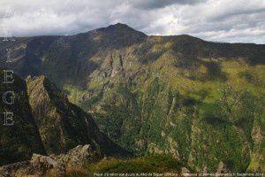 Pique d'Endron vue du pic du Midi de Siguer (2003m)