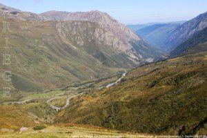 Vallée de l'Ariège vue du chemin de la mine (2120m)