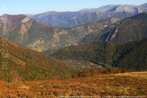 Vallée d'Ustou vue de la coume d'Ardio (1670m)
