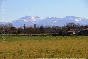 Vue sur Pamiers et le massif de Tabe