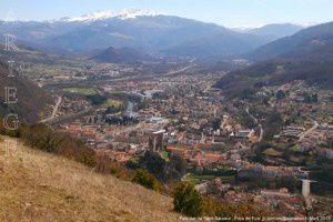 Foix vue de Saint-Sauveur