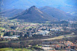 Montgailhard - Le Pain de Sucre vus de Saint-Sauveur