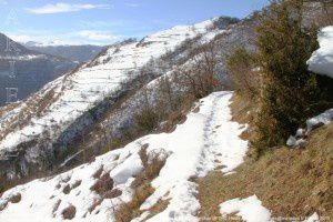 Sentier d'Albies - Caychax (910m)