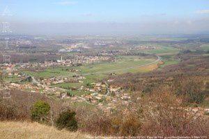 Plaine de l'Ariège vue du pech de Dalou (621m)