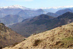 Haute Ariège vue du Roc de Peyrenègre (1390m)