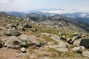 Massif du mont Valier vu du pic Rouge de Bassies (2676m)