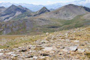 Sommets espagnols vus de la Mail de Bulard (2750m)