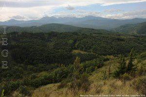 Massif de Tabe vu du pic Galinié (538m)