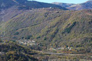 Bonascre - Les Bazerques vus du Sarrat de l'Etang (1127m)