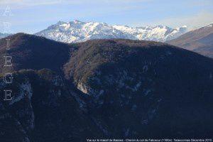 Vue sur le massif de Bassies - Chemin du col de Faboscur (1166m)