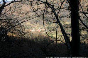 Vue sur Arnave - Descente au col d'Ussat (820m)