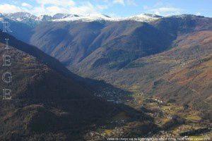 Vallée de l'Aston vue du Sommet de Crouzille (1153m)