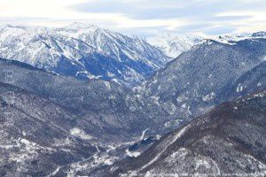 Haute vallée de l'Ariège vue depuis le Signal du Chioula (1507m)