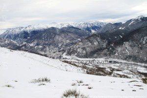 Vallée de l'Ariège vue depuis le Sarrat de la Barthe (1377m)