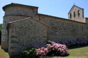 Eglise Saint-Saturnin - Le Carlaret - Chemin du piémont pyrénéen