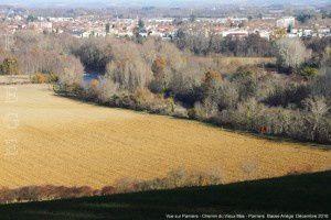 Vue sur Pamiers - Chemin du Mas Vieux