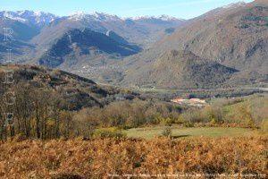 Mercus - Vallée de l'Ariège vus de la montée aux Brougues (1197m)
