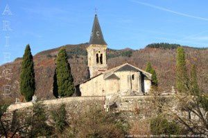 Eglise Saint-Louis - Mercus (500m)