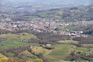 Vue sur Saint-Girons - Char de Lique (796m)
