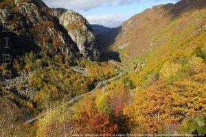 Vallée de l'Ariège vue de la croix de Larguis (1150m)