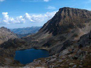 Etang de l'Albe (2355m) - Pic de l'Albe (2764m)
