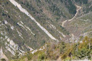 Gorges de la Frau depuis le pas de l'Ours (1400m)