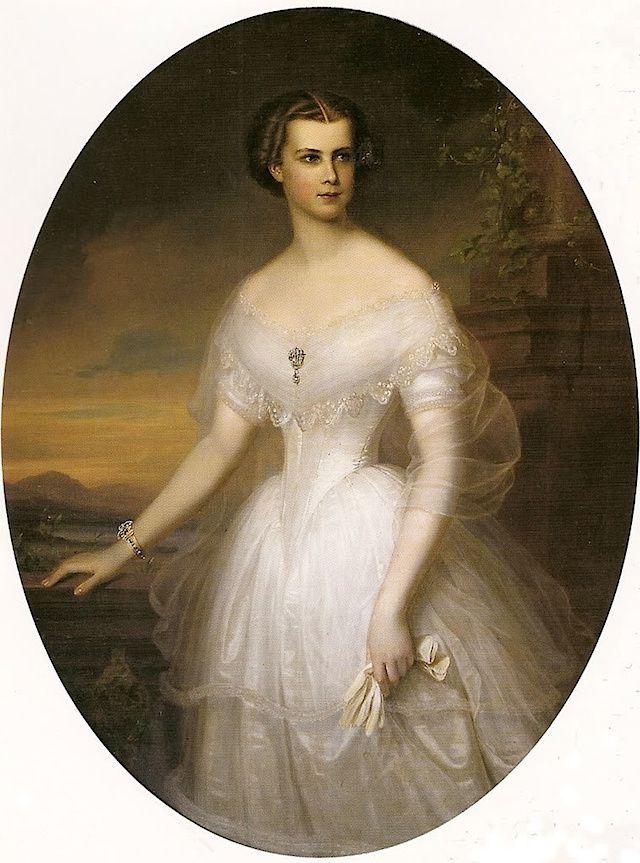 Elisabeth en Bavière, portrait par Frederick Dürck