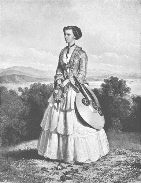 Portrait d'Elisabeth à Possenhofen, 1853
