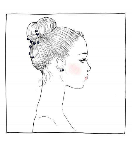 Chignon dessin profil - Dessin tete de profil ...