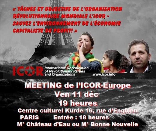 Meeting de l'ICOR à Paris : Pendant la COP 21, poursuivons la mobilisation