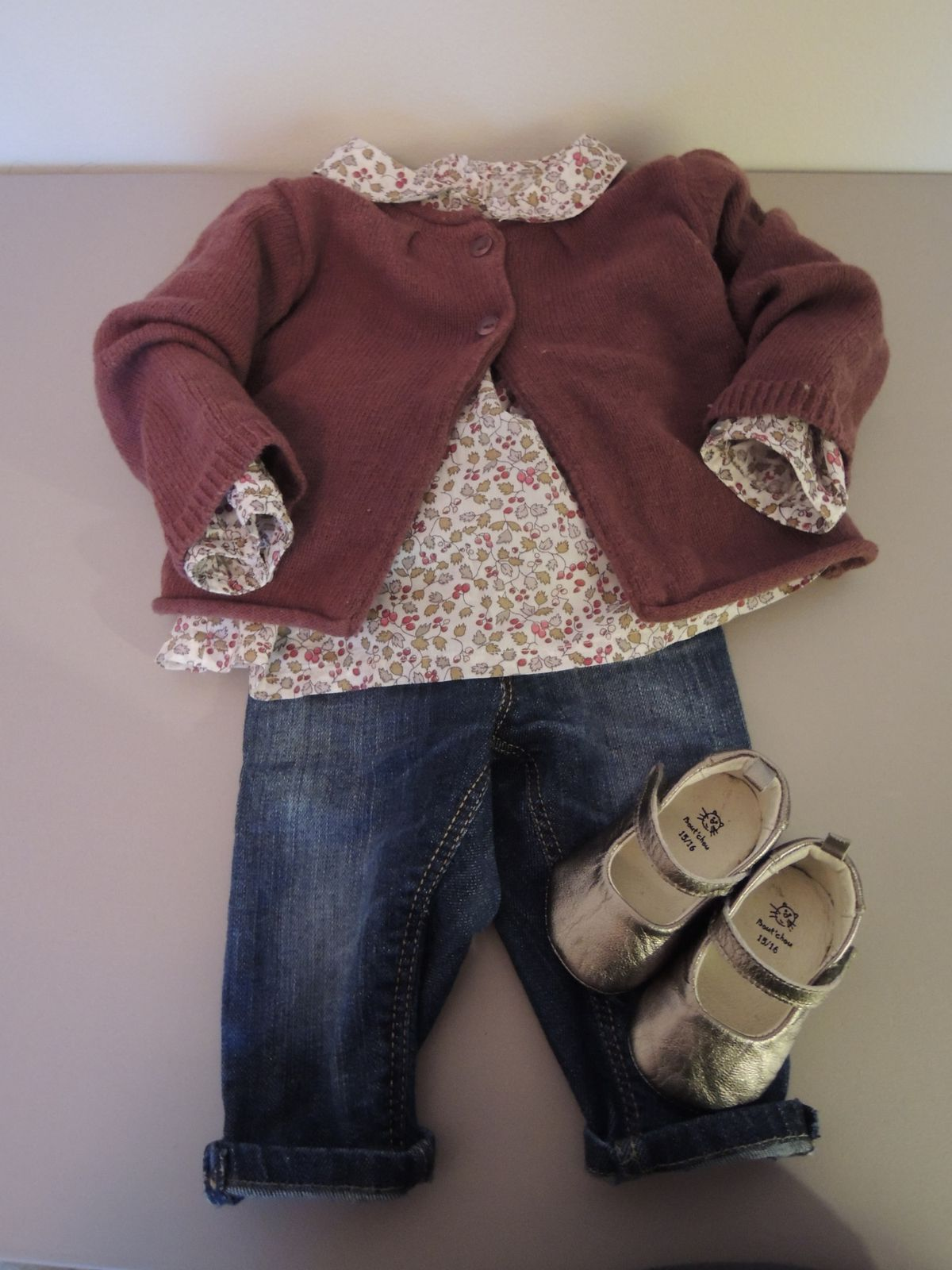 Gilet Z, blouse DPAM, jeans H&m, shoes Bout'chou