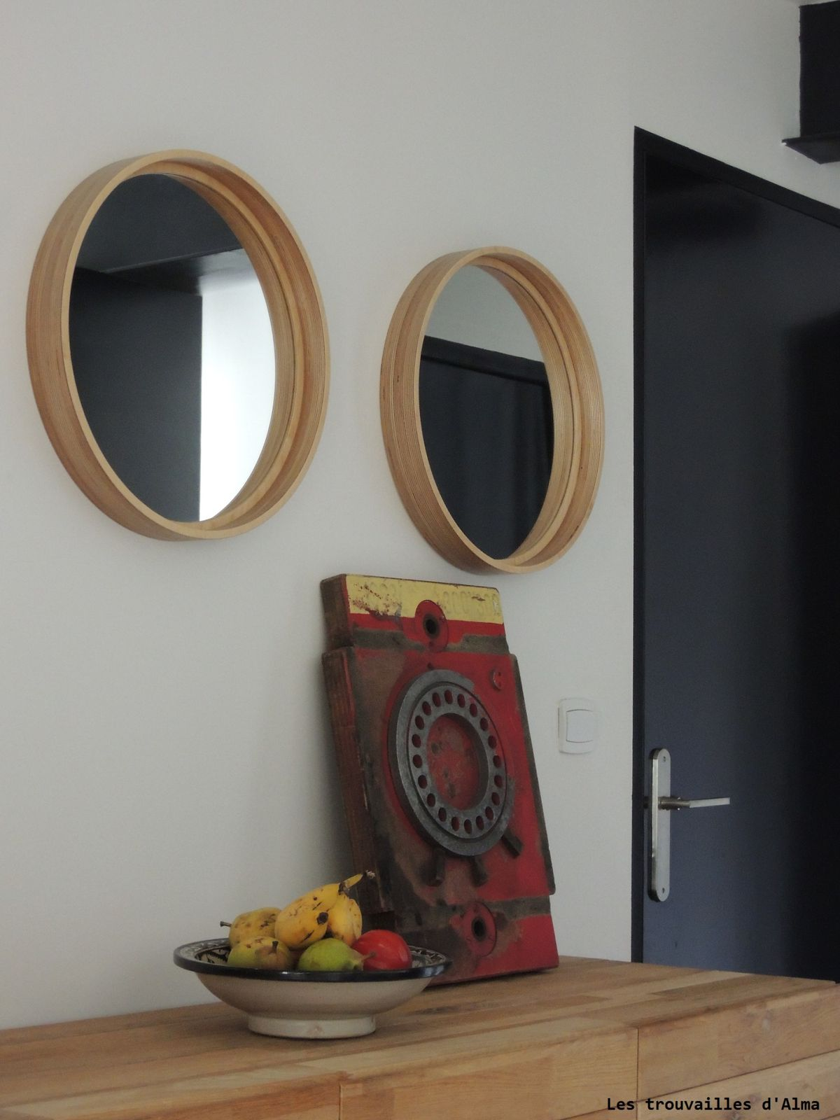 Miroirs en bois façon hublots de paquebot...
